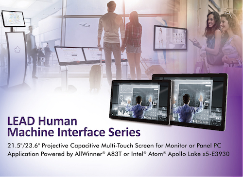 Portwell Announces a New Lead Series of Multi-touch Human Machine Interface (HMI) Panel Pc Products