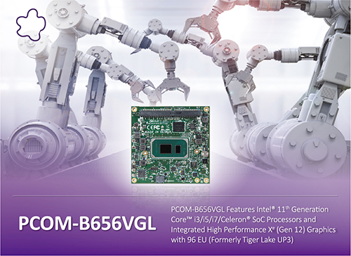 Portwell Announces Pcom-b656vgl Com Express® 3.0 Type 6 Compact Module, The Latest Addition To Its Popular Com Express Product Portfolio