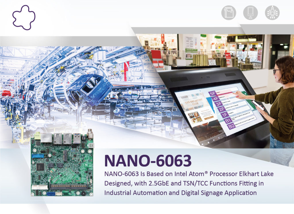 Portwell Announces NANO-6063, the Latest NANO-ITX Embedded Board Powered by Intel Atom<sup>®</sup> x6000E Series Processors (Codenamed Elkhart Lake)